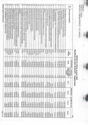 Buget Local, rectificare 30 09 2021 II
